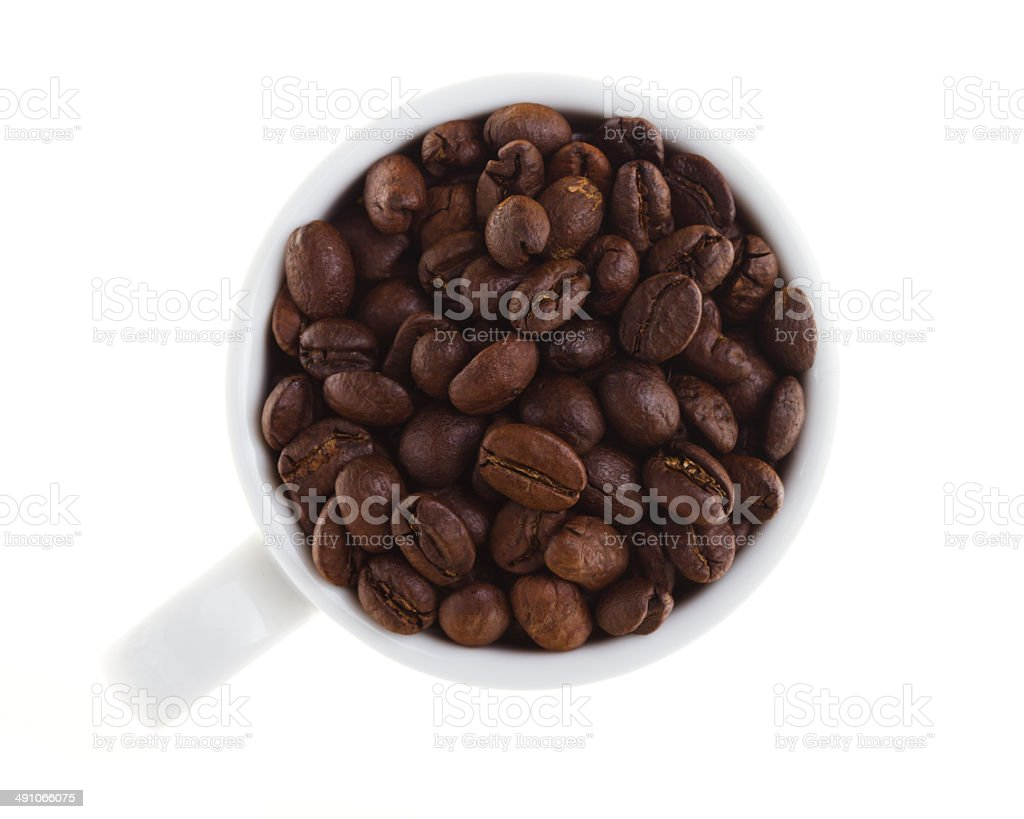 Coffee cup with clipping path royalty-free stock photo