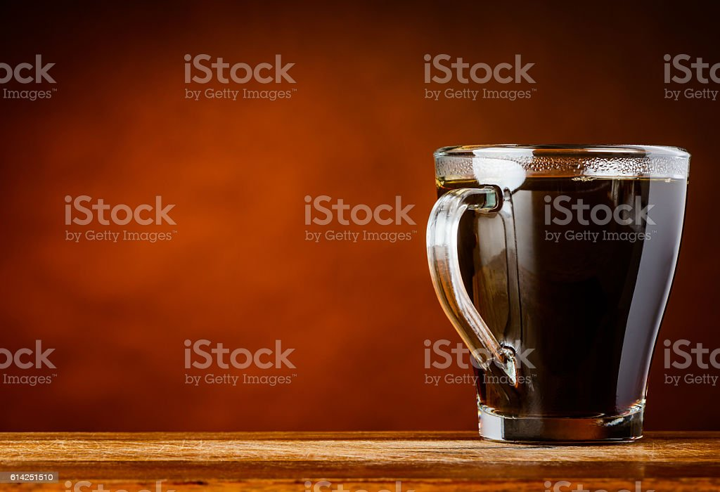 Coffee Cup with Copy Space Area stock photo