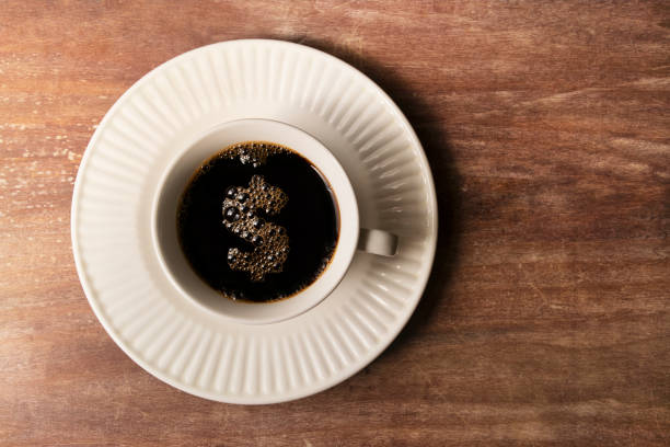 Coffee Cup With Dollar Sign Bubble stock photo