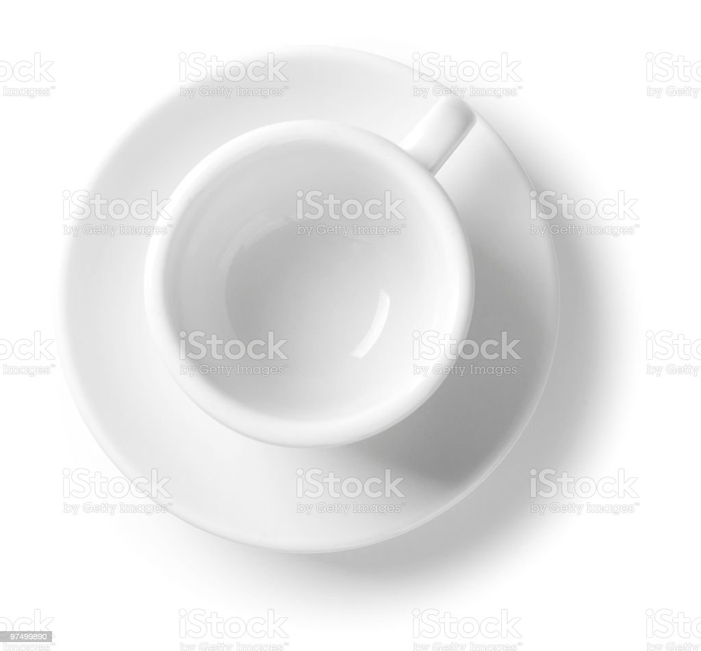 Coffee cup with saucer royalty-free stock photo