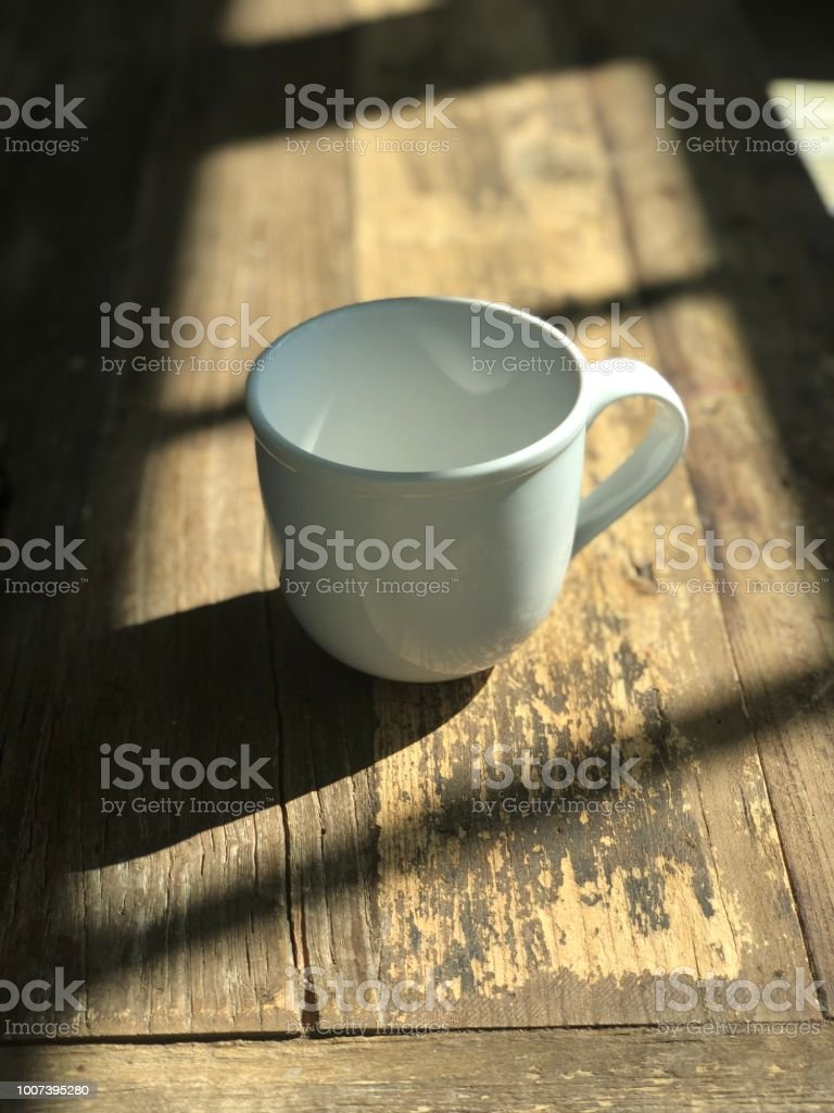 Coffee Cup with Shadows stock photo