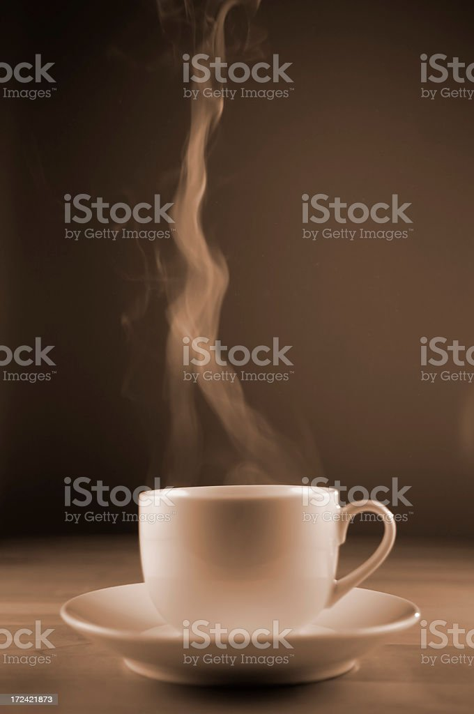 Coffee Cup With Stem stock photo