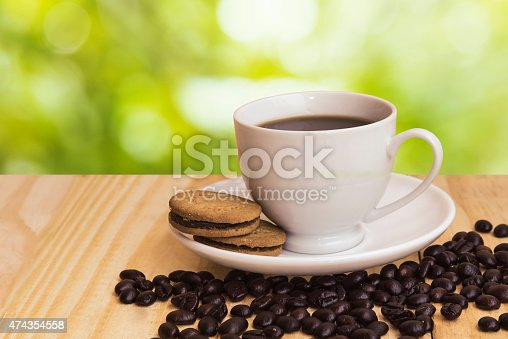 istock coffee cup with sunny spring background 474354558
