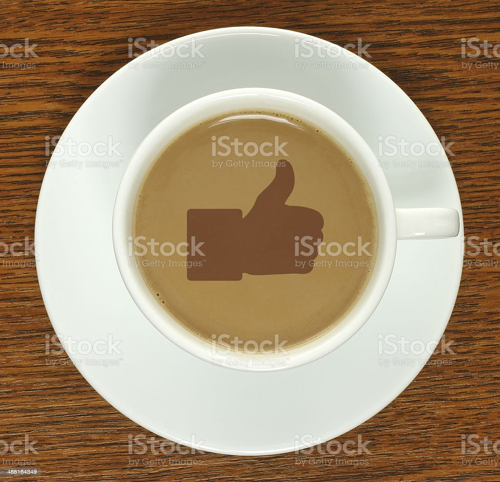 Coffee cup with thumb up - Royalty-free Agreement Stock Photo