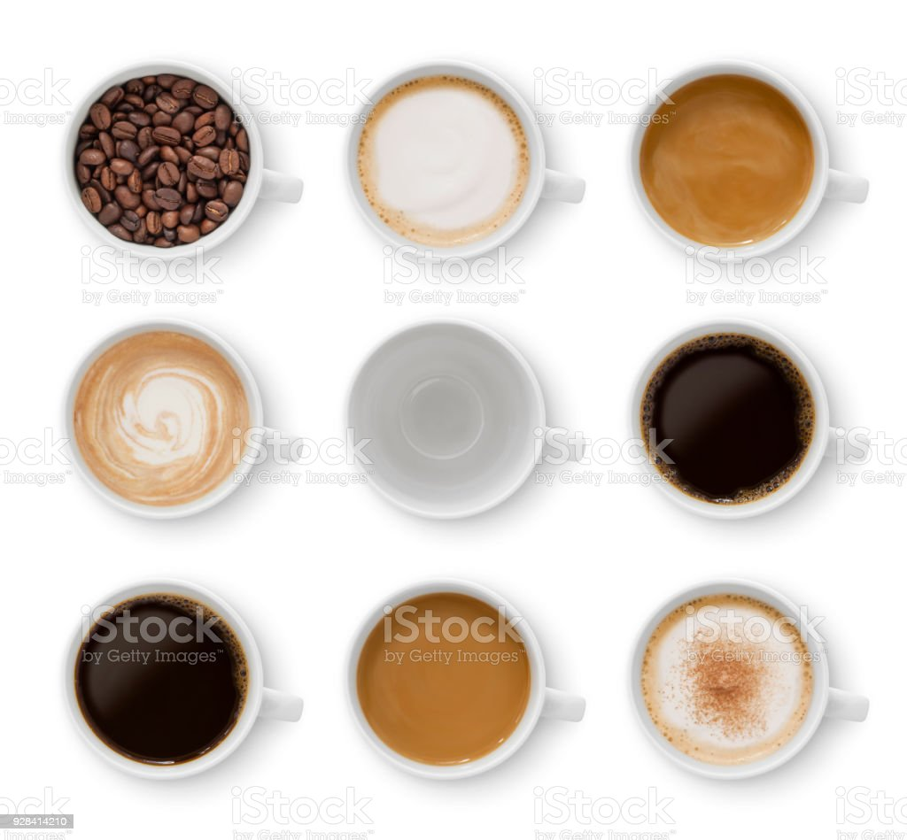 Coffee Cups Collection (with path) stock photo
