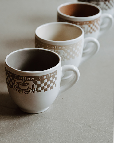 Coffee Cups color scale effect