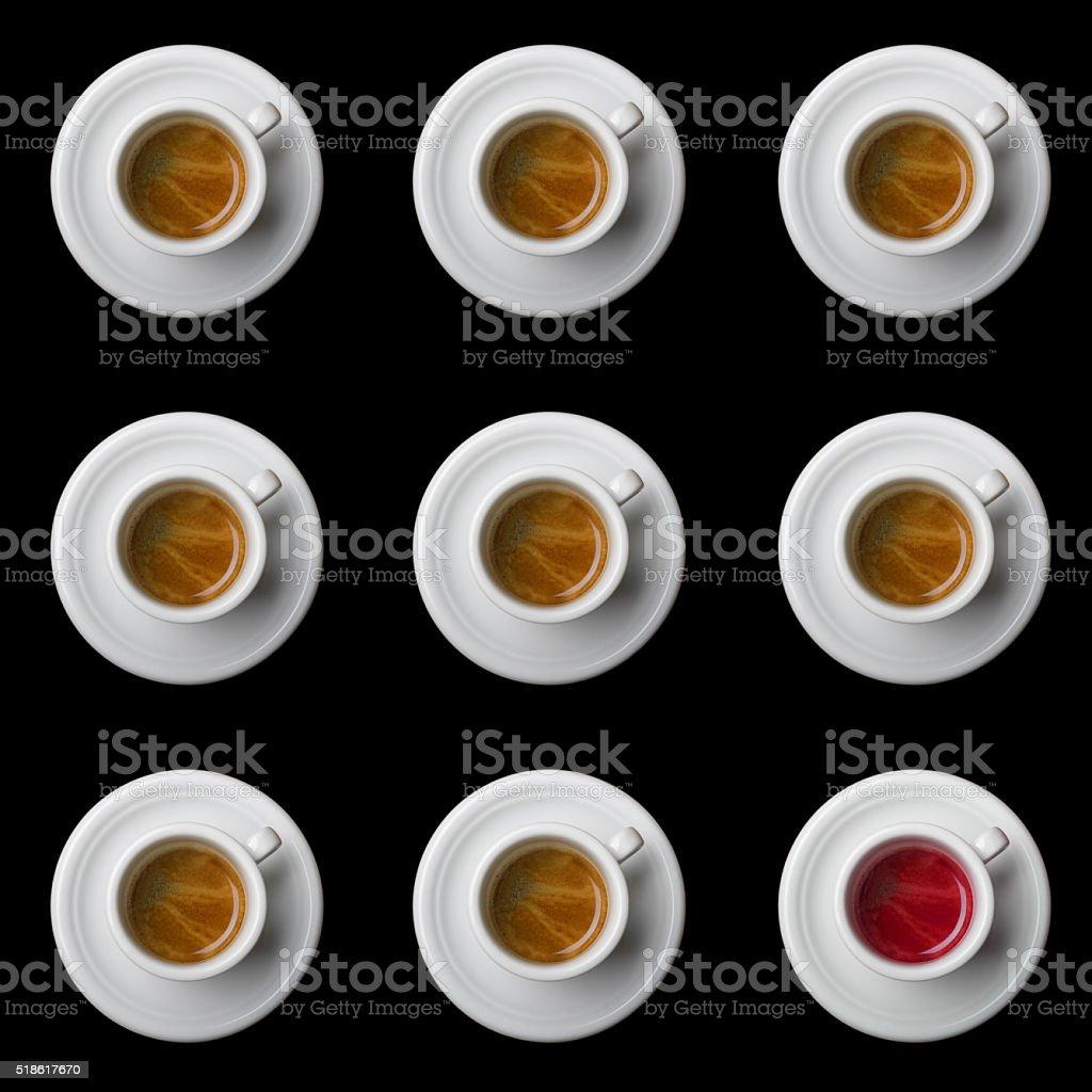 tazas de café - foto de stock