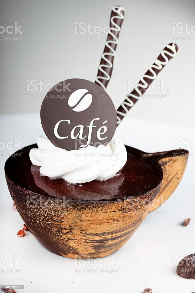 coffee dessert with a chocolate royalty-free stock photo