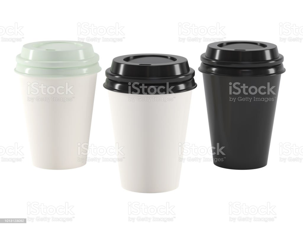 Coffee disposable paper cup stock photo