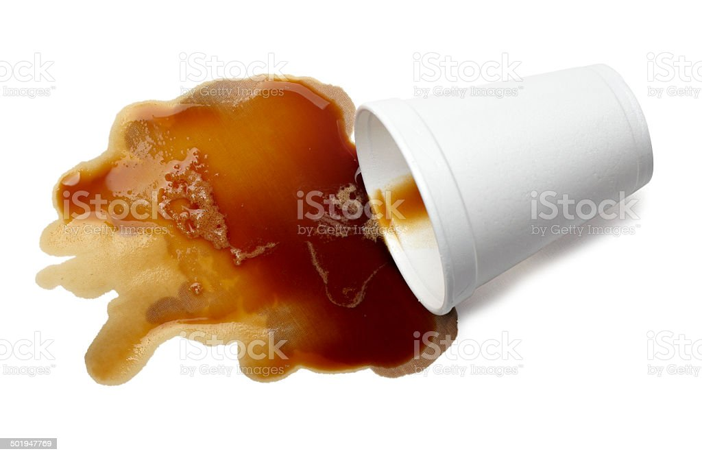 coffee drink beverage splashing stain dirty stock photo