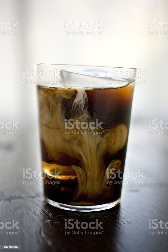 Coffee drink with cream stock photo