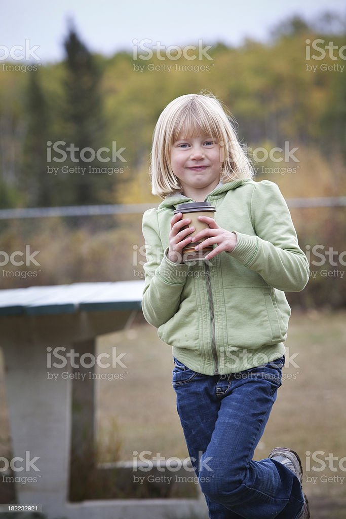 Coffee drinker in Training stock photo