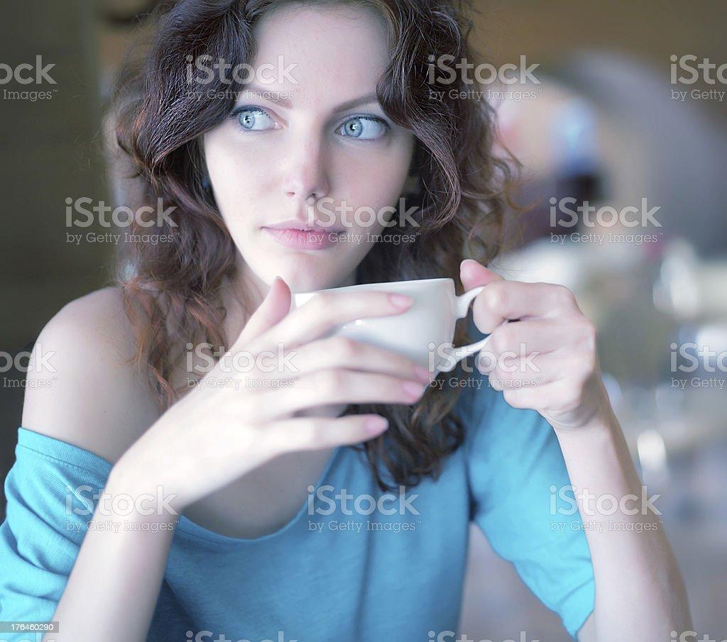Coffee Drinker royalty-free stock photo