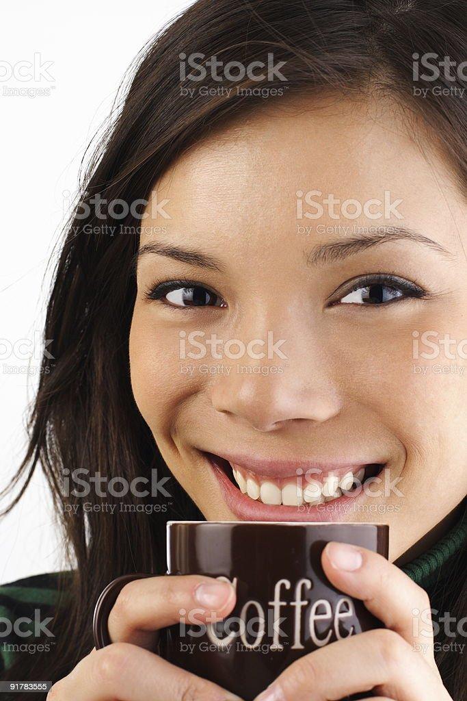 Coffee drinking royalty-free stock photo