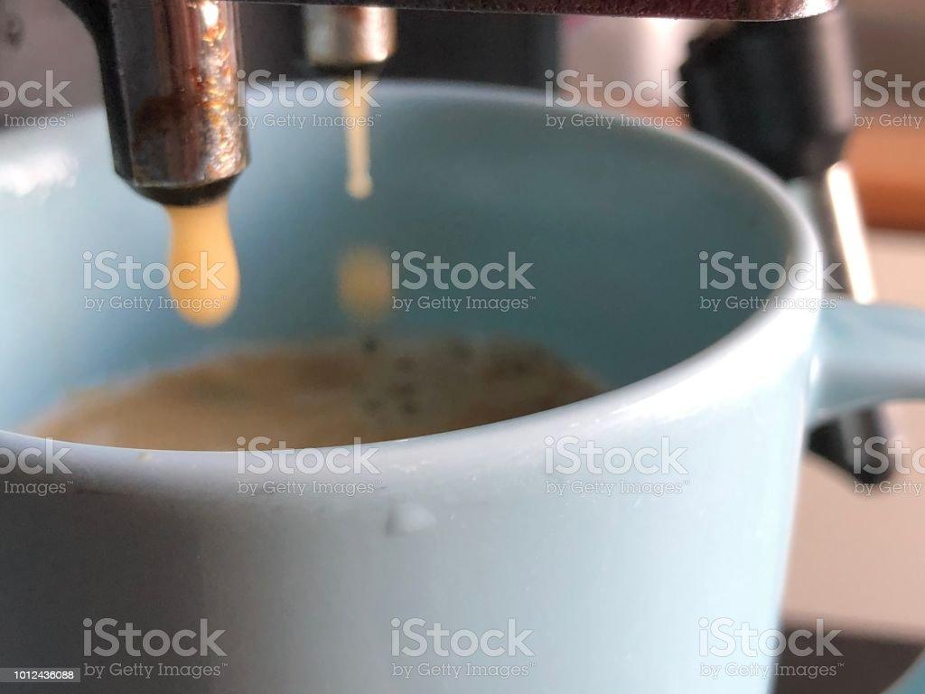 Dropping coffee liquid