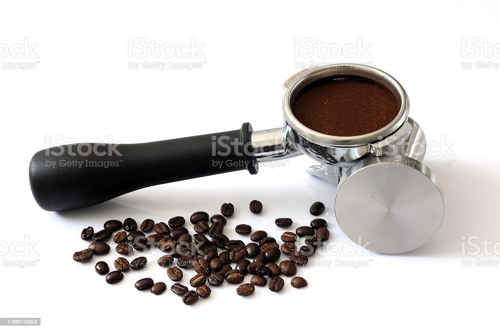 Coffee dust stock photo