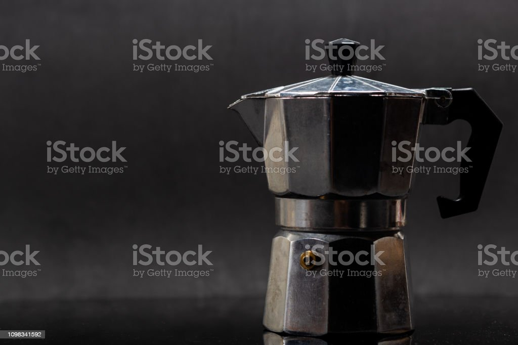Coffee equipment Moka Pot and coffee bean