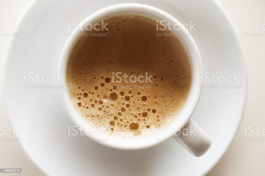 Coffee espresso in a white cup royalty-free stock photo