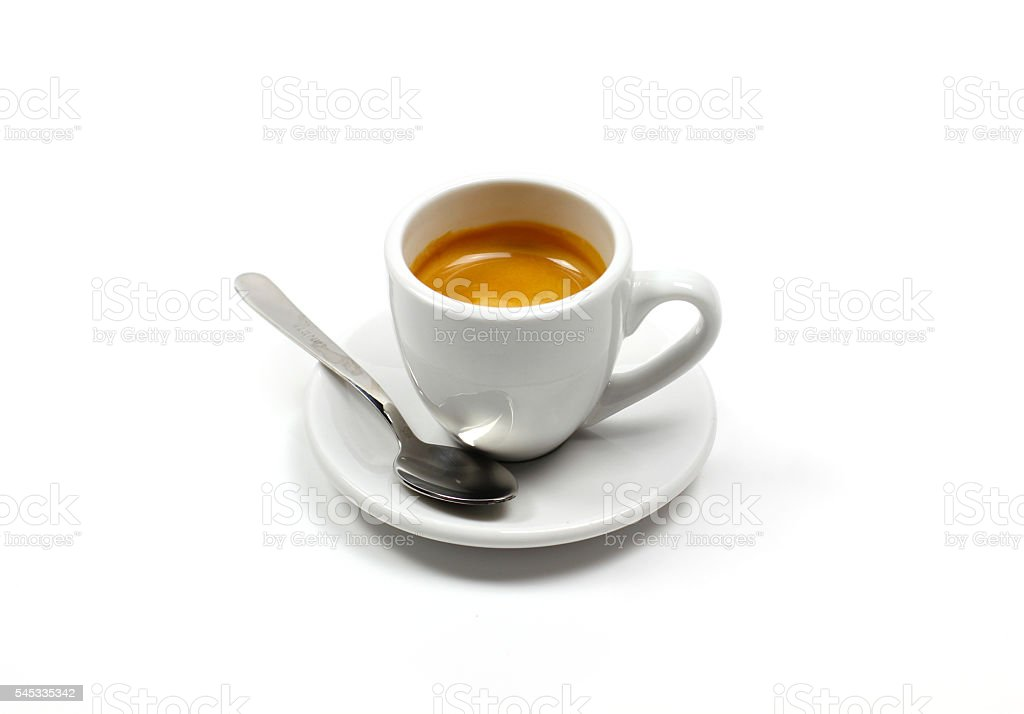 Coffee espresso in white background stock photo