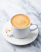 istock Coffee, espresso in white cup of marble table background. 1173504113