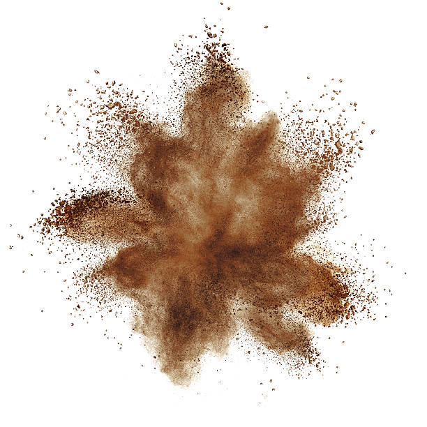 Coffee explosion isolated on white stock photo