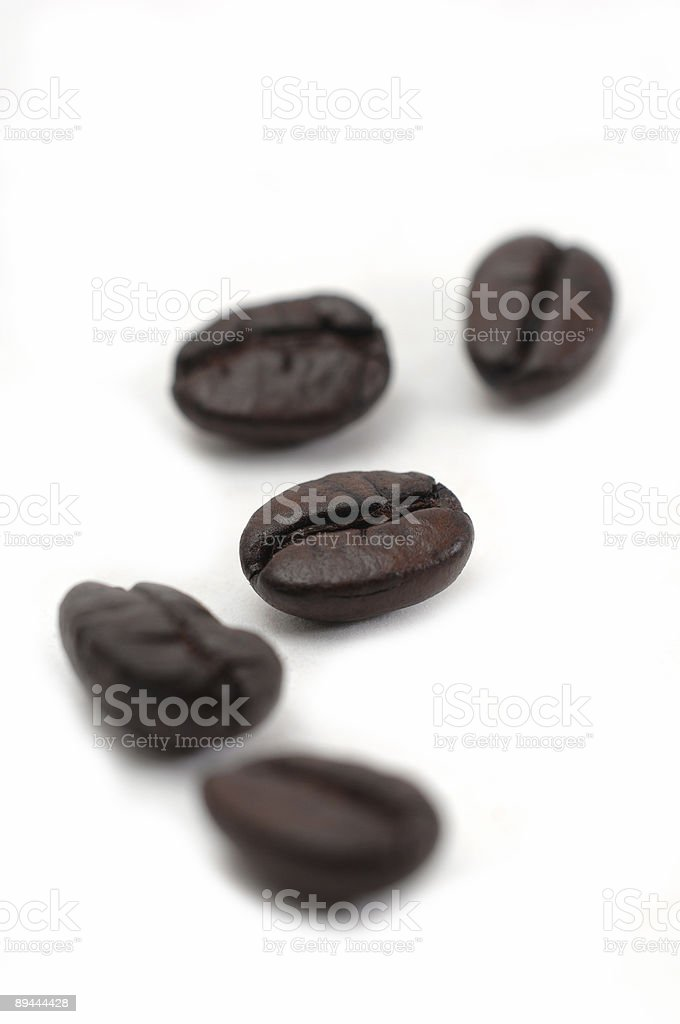 Coffee five beans royalty-free stock photo
