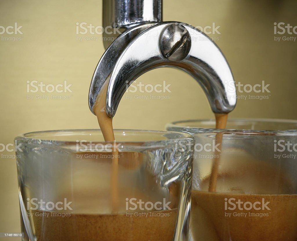 Coffee flow royalty-free stock photo