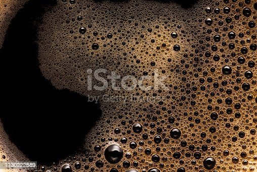istock Coffee foam extreme close-up texture background 1130222889