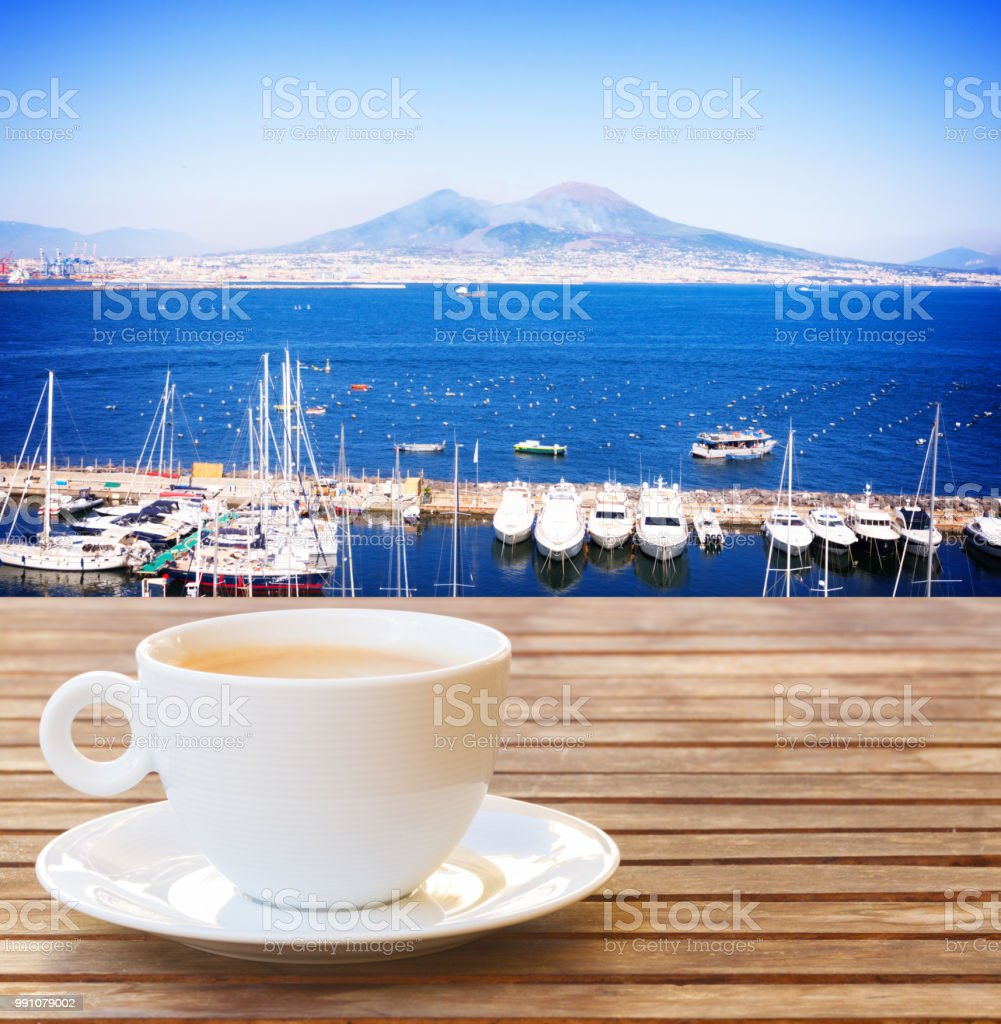 coffee for two in Naples stock photo