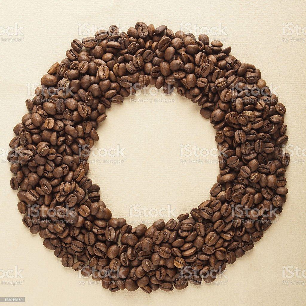 Coffee frame royalty-free stock photo
