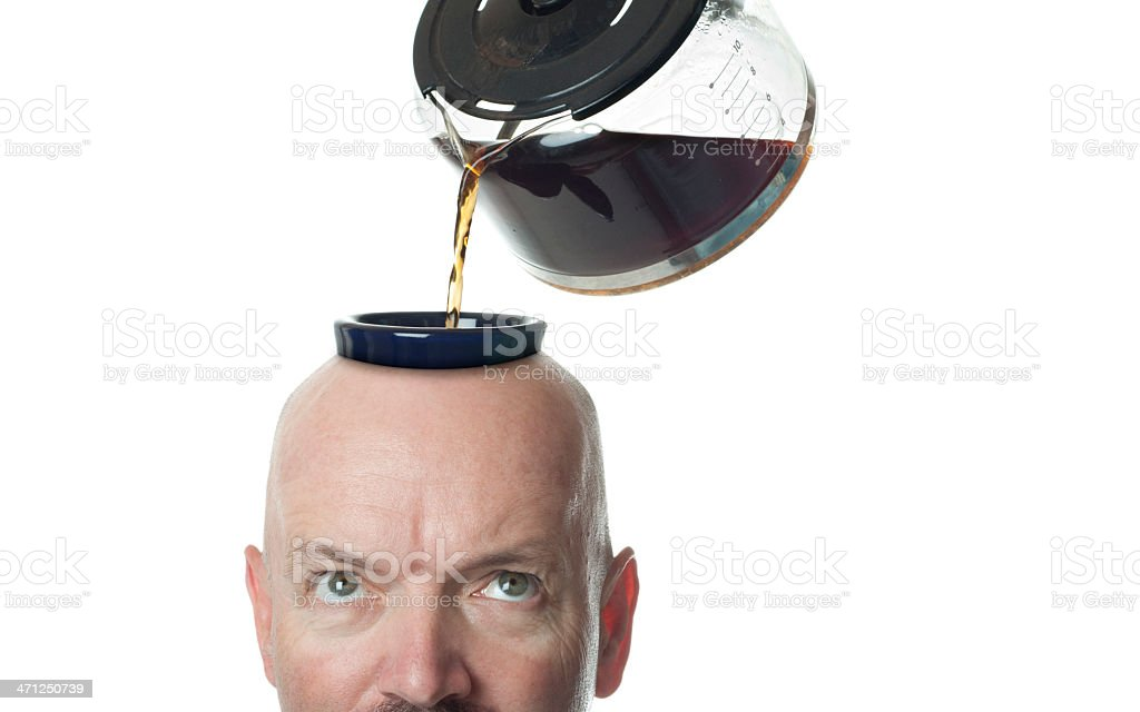 Coffee Freak royalty-free stock photo