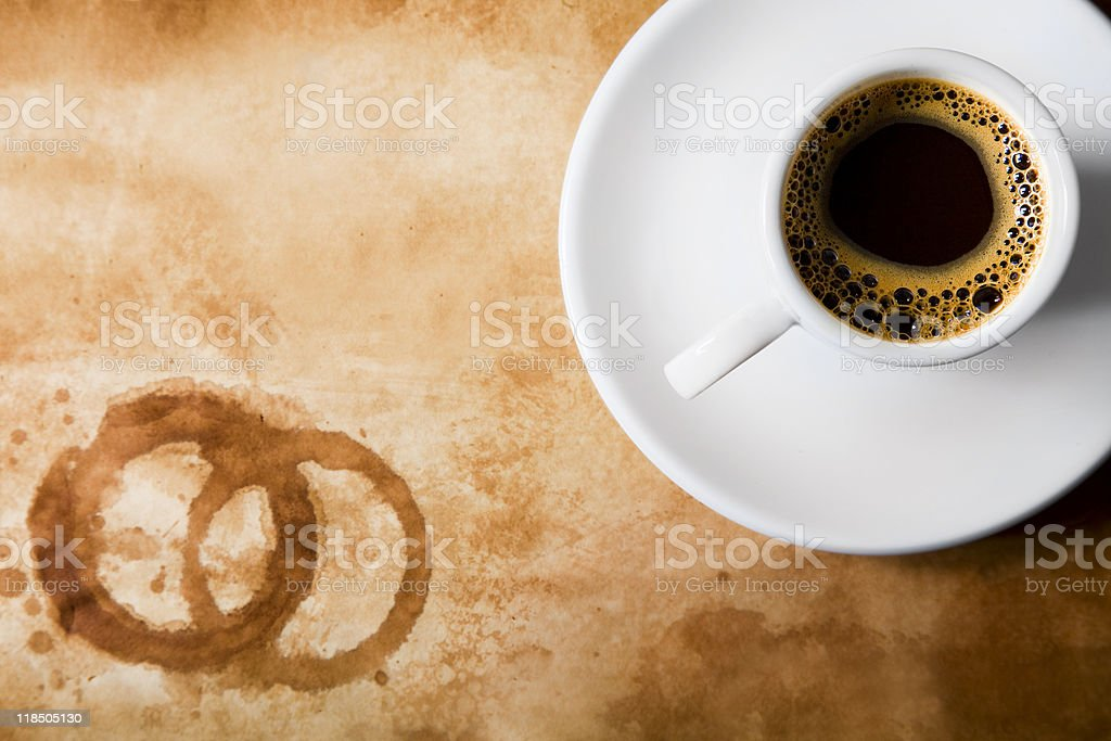 Coffee From Above royalty-free stock photo