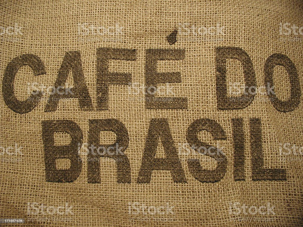 Coffee from Brazil royalty-free stock photo