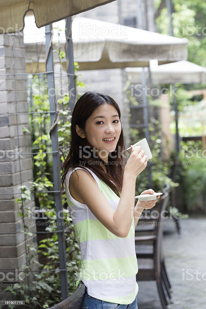 coffee girl royalty-free stock photo