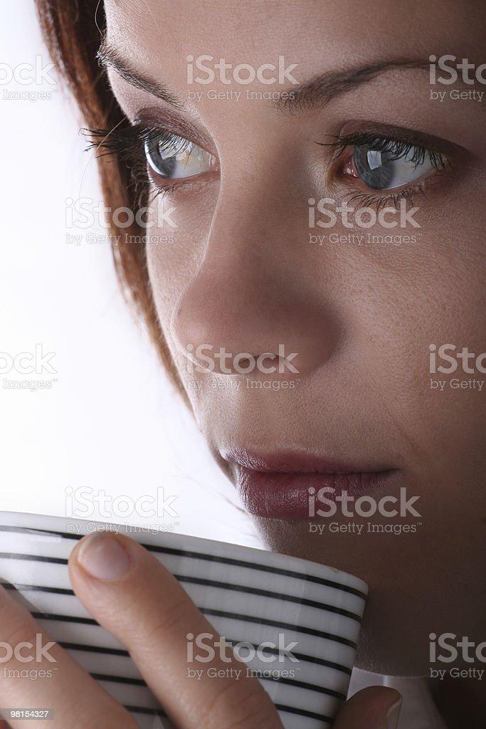 커피 여자아이 royalty-free 스톡 사진