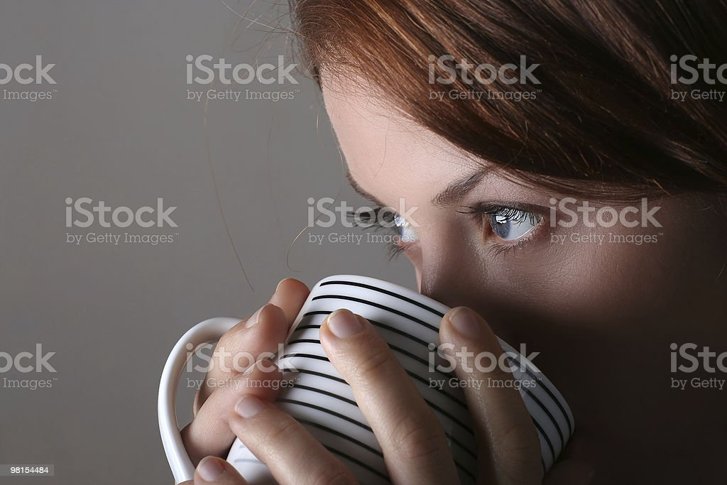 Coffee girl royalty-free stock photo