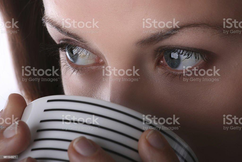 Caffè ragazza foto stock royalty-free