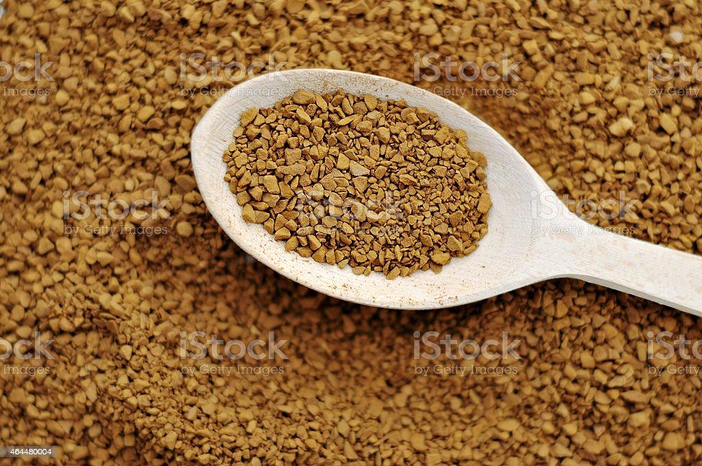 Coffee granules stock photo