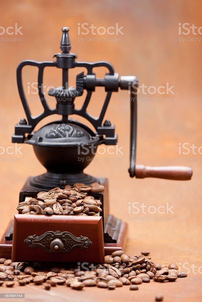 Coffee Grinder on rusty metal