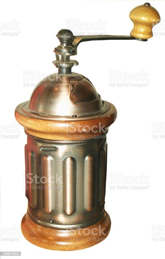 Coffee grinder manual stock photo