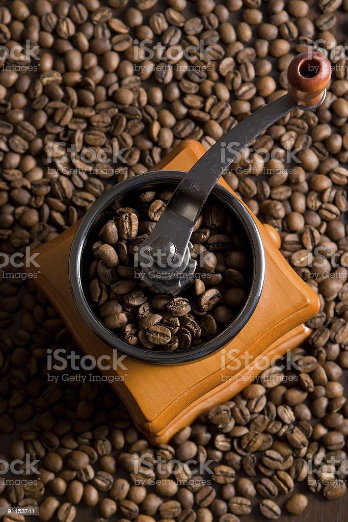 Coffee grinding machine royalty-free stock photo