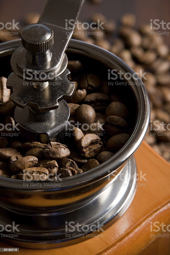 Coffee grinding machine royalty-free stock photo