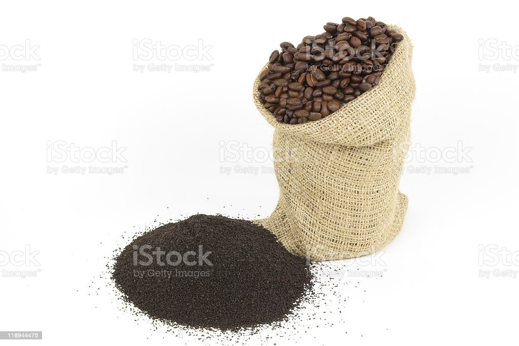 Coffee grounds. royalty-free stock photo