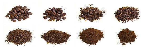 kaffee-gelände - kaffeepulver stock-fotos und bilder