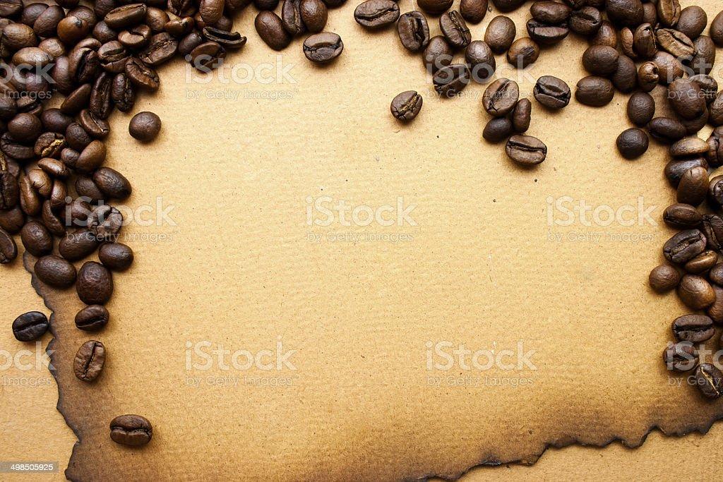 Coffee grunge background royalty-free stock photo