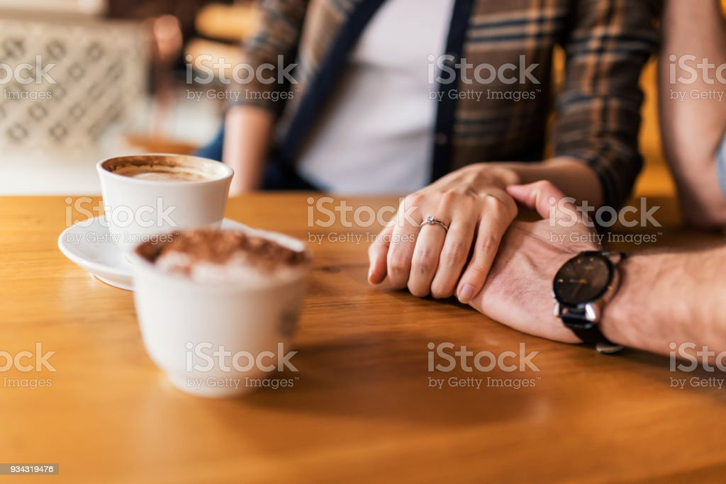 Coffee has a magical way of bringing people together stock photo