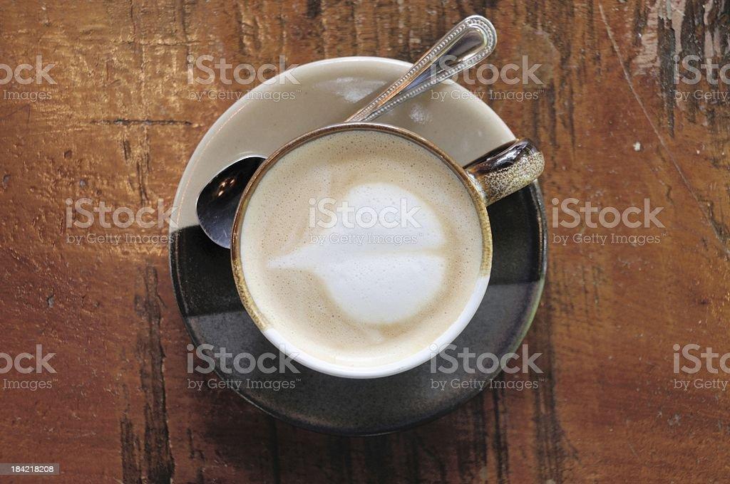 coffee heart art stock photo
