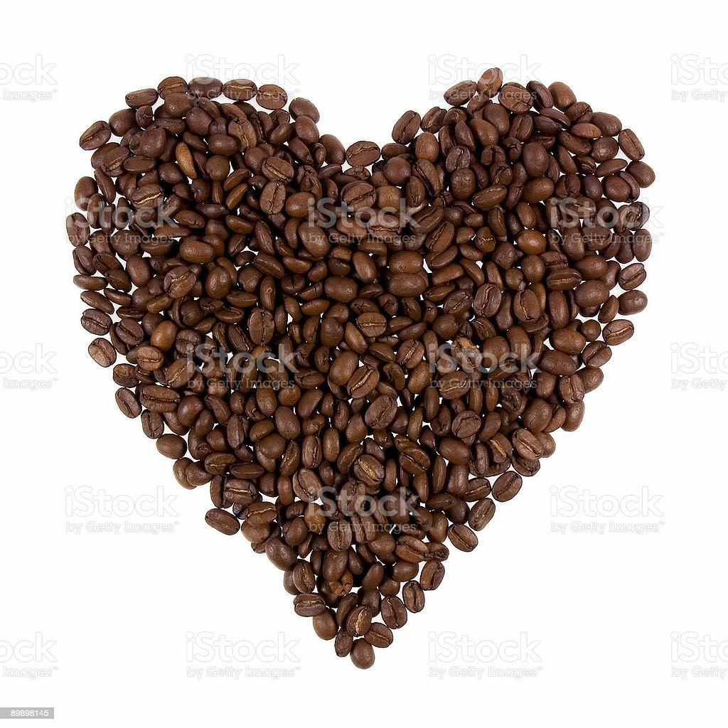 Coffee Heart royalty free stockfoto
