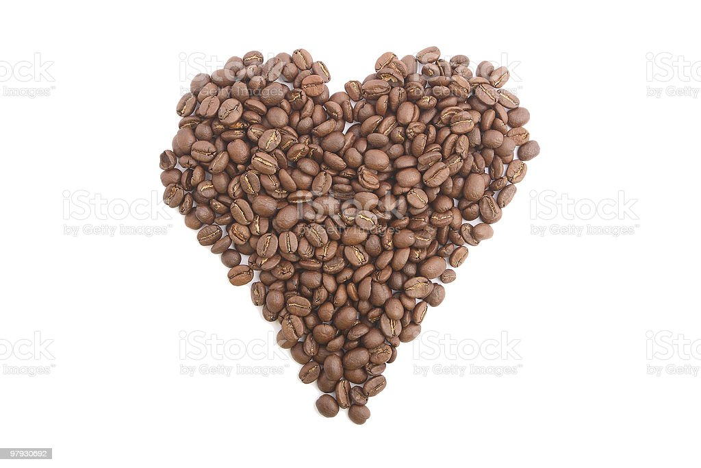 coffee heart royalty-free stock photo