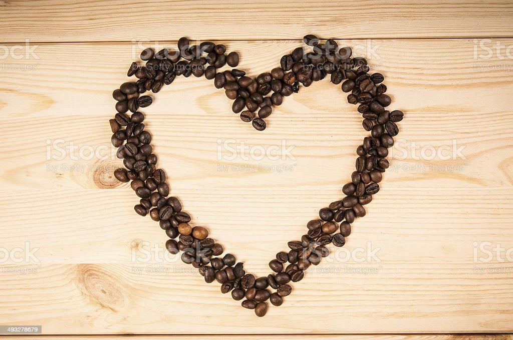 Kawa serce symbol zbiór zdjęć royalty-free